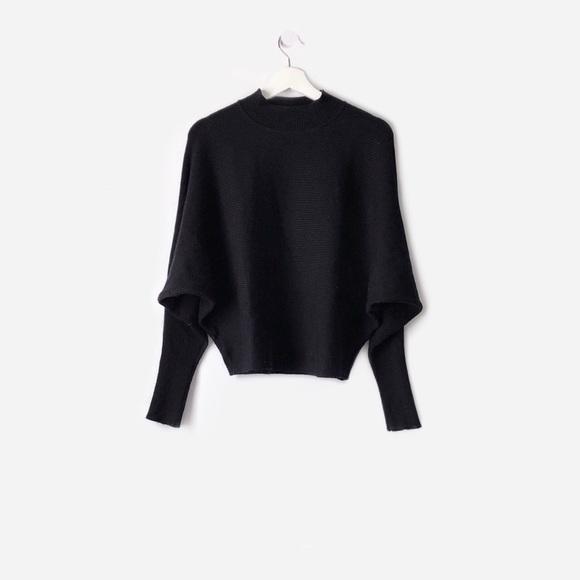 fdfabc89 Zara Sweaters | Ribbed Batwing Sleeve Slouchy Dolman Sweater | Poshmark